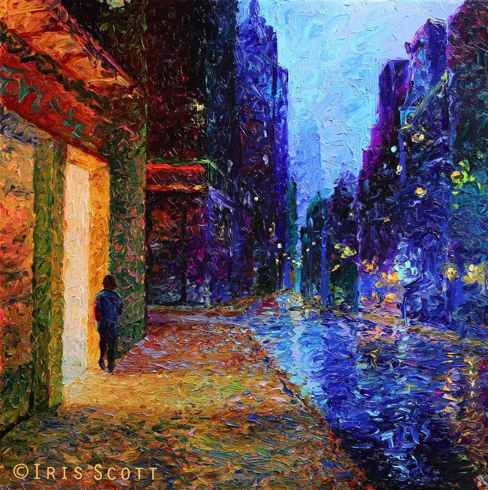 用颜料触摸这个世界!美国画家Iris Scott画选(下)——人物街景篇插图73
