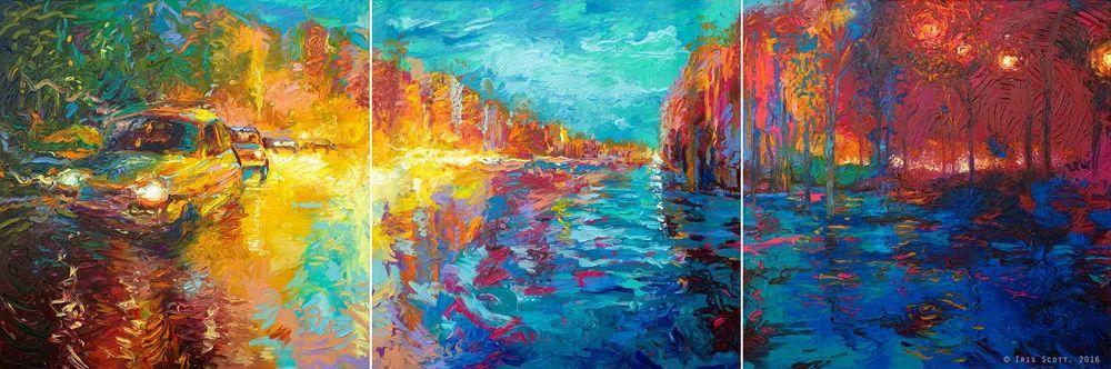 用颜料触摸这个世界!美国画家Iris Scott画选(下)——人物街景篇插图75