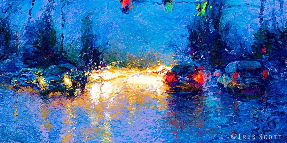 用颜料触摸这个世界!美国画家Iris Scott画选(下)——人物街景篇插图77