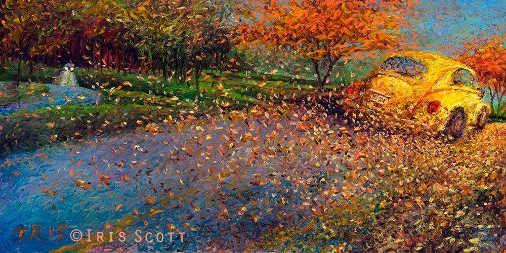 用颜料触摸这个世界!美国画家Iris Scott画选(下)——人物街景篇插图81