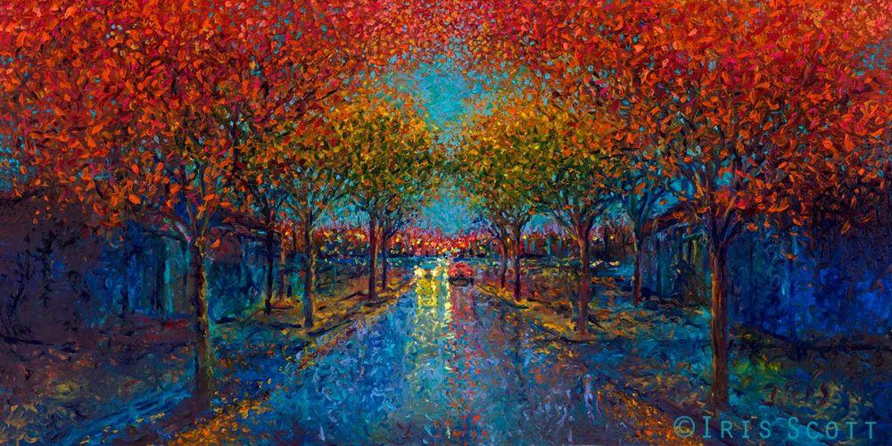 用颜料触摸这个世界!美国画家Iris Scott画选(下)——人物街景篇插图85