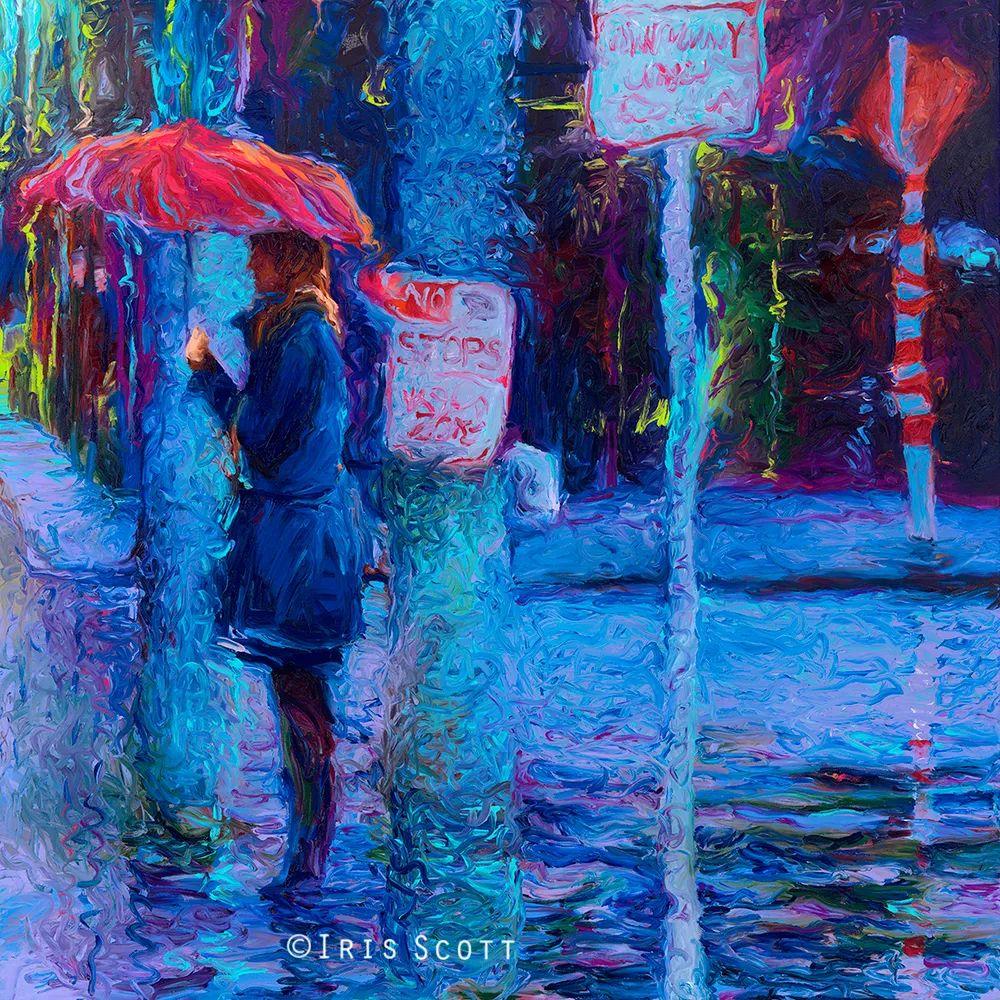 用颜料触摸这个世界!美国画家Iris Scott画选(下)——人物街景篇插图87