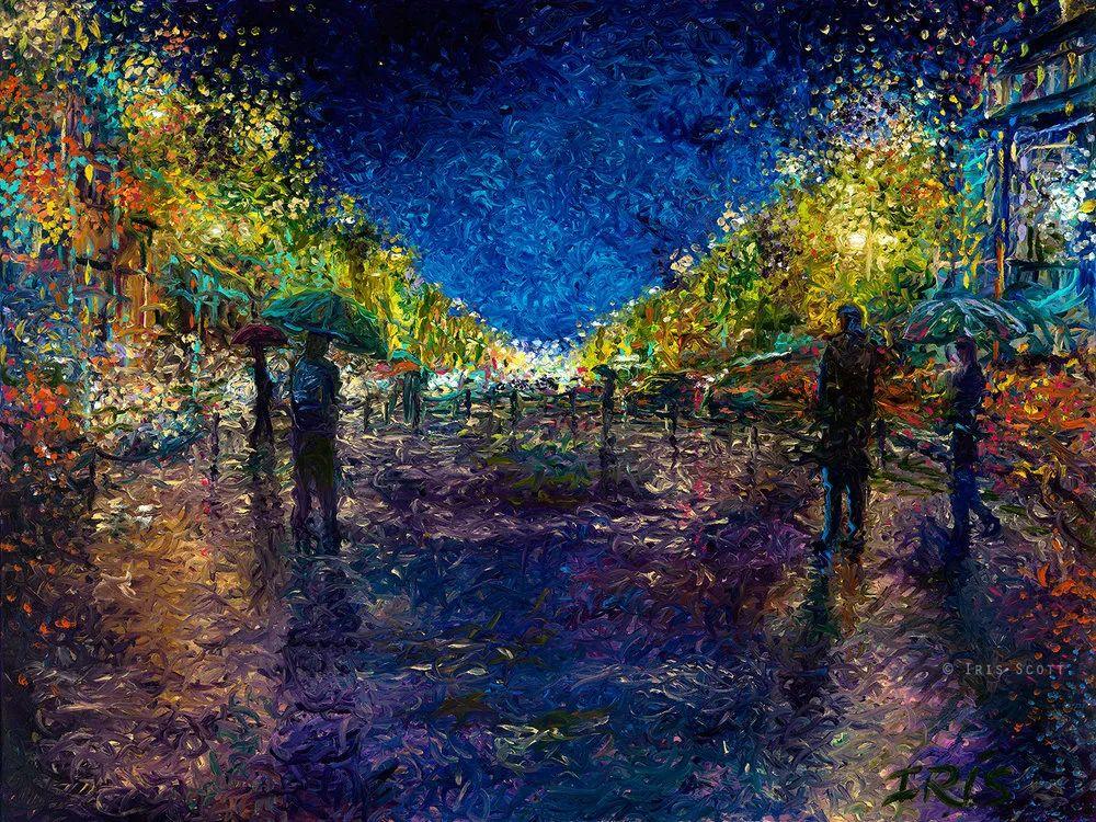 用颜料触摸这个世界!美国画家Iris Scott画选(下)——人物街景篇插图93