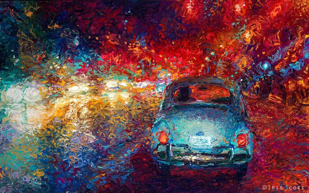 用颜料触摸这个世界!美国画家Iris Scott画选(下)——人物街景篇插图95