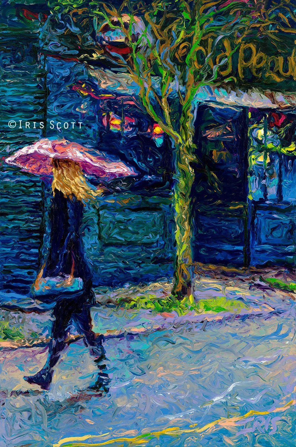 用颜料触摸这个世界!美国画家Iris Scott画选(下)——人物街景篇插图97