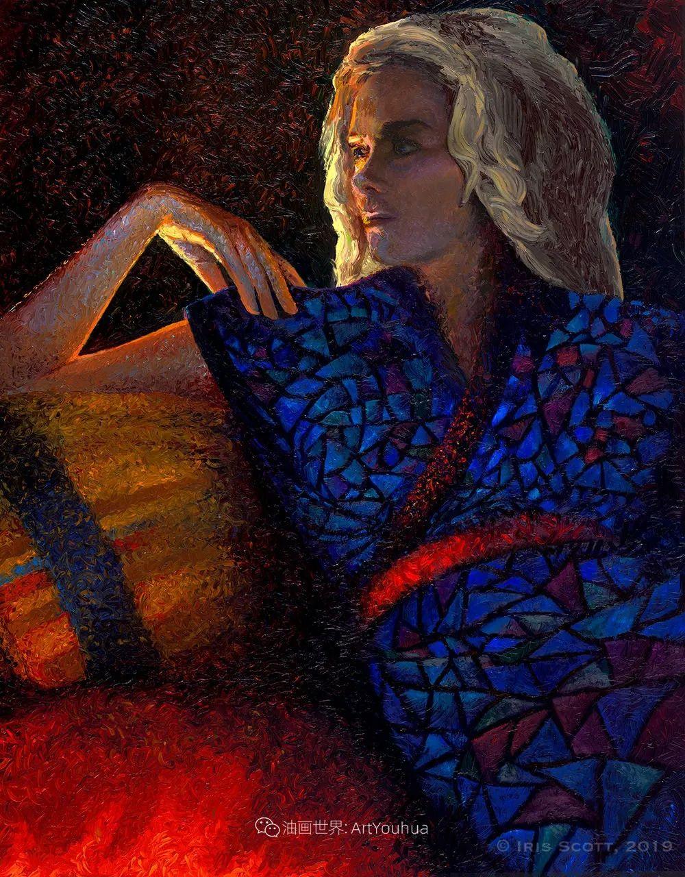 用颜料触摸这个世界!美国画家Iris Scott画选(下)——人物街景篇插图101