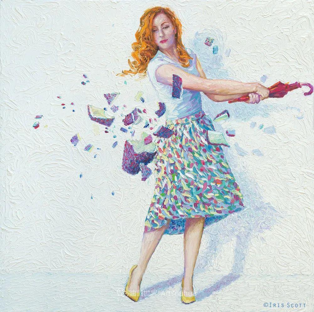 用颜料触摸这个世界!美国画家Iris Scott画选(下)——人物街景篇插图105