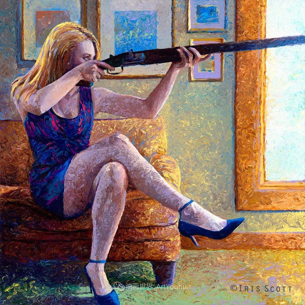 用颜料触摸这个世界!美国画家Iris Scott画选(下)——人物街景篇插图107