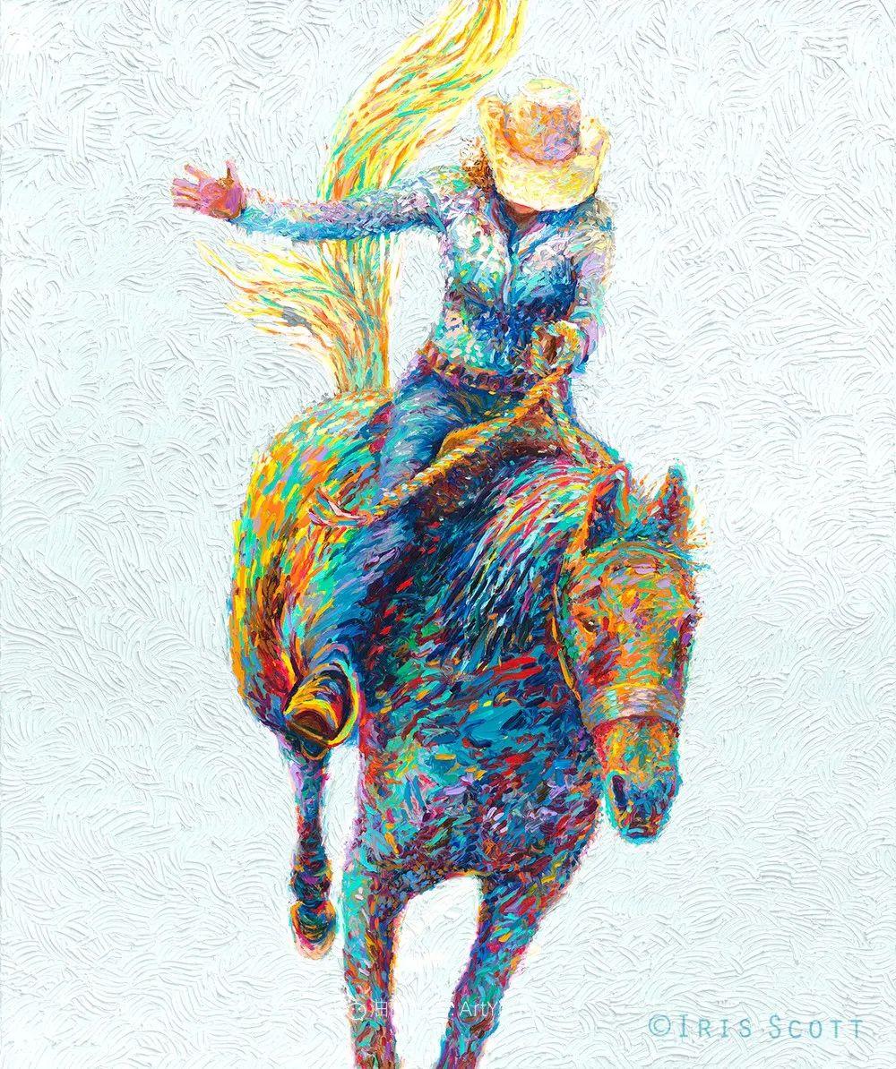 用颜料触摸这个世界!美国画家Iris Scott画选(下)——人物街景篇插图109