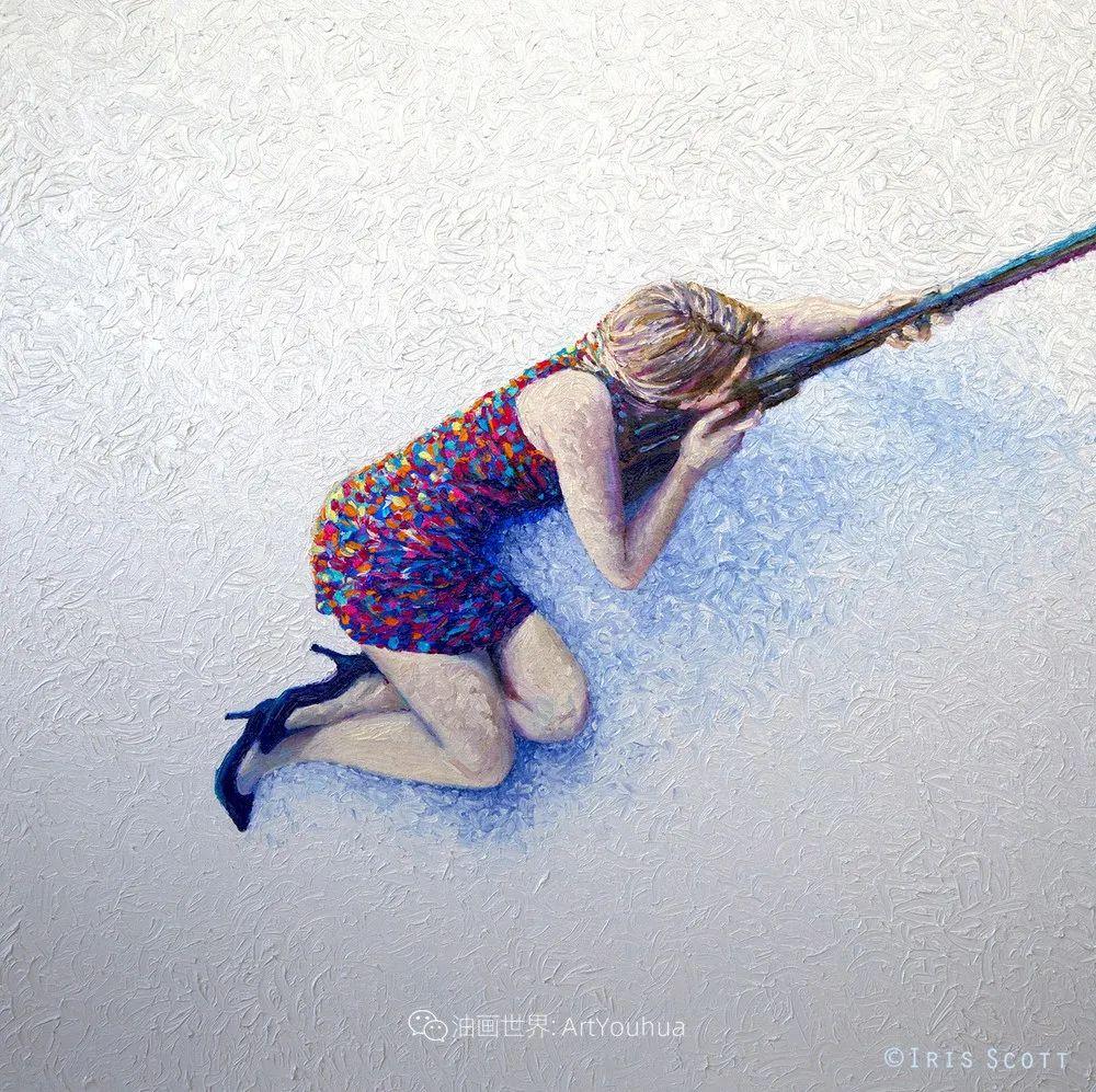 用颜料触摸这个世界!美国画家Iris Scott画选(下)——人物街景篇插图111