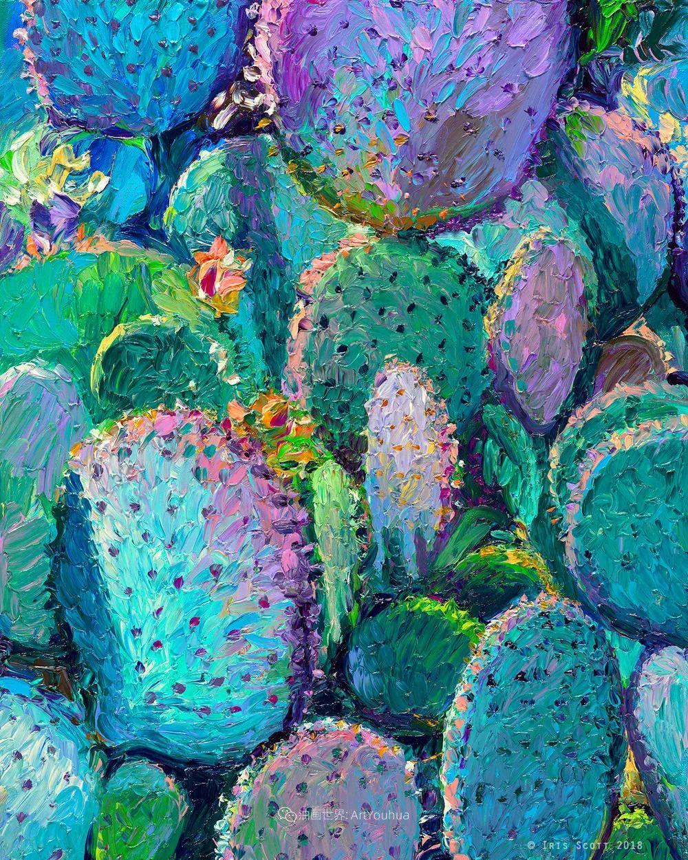 用颜料触摸这个世界!美国画家Iris Scott画选(中)——动植物篇插图3