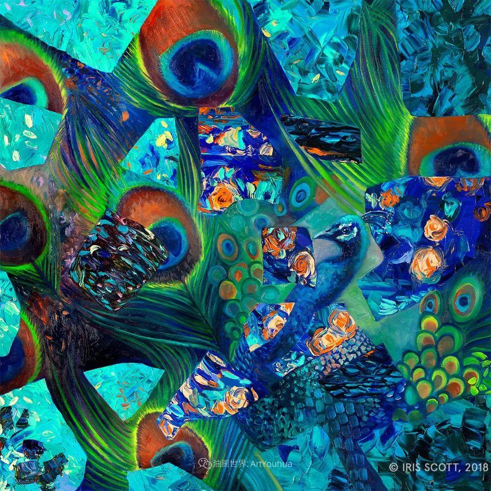 用颜料触摸这个世界!美国画家Iris Scott画选(中)——动植物篇插图9