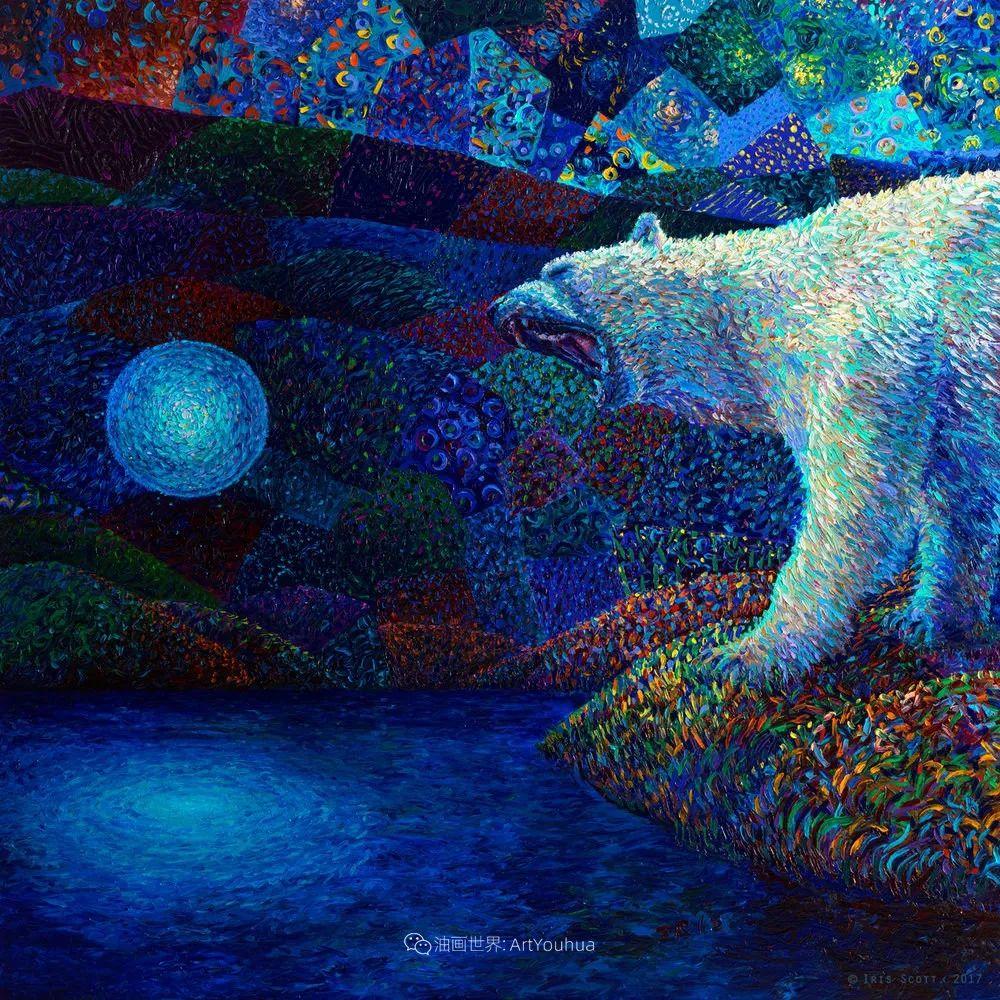 用颜料触摸这个世界!美国画家Iris Scott画选(中)——动植物篇插图11