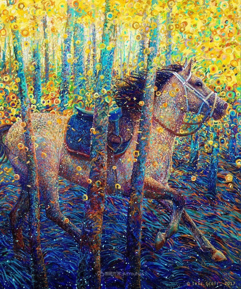用颜料触摸这个世界!美国画家Iris Scott画选(中)——动植物篇插图13