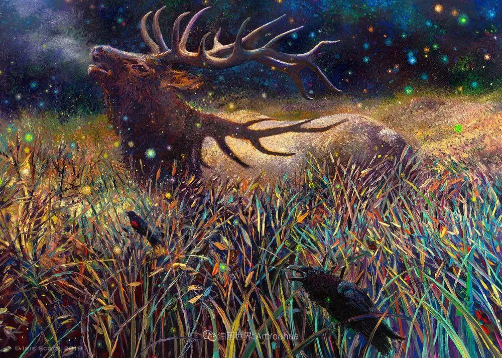 用颜料触摸这个世界!美国画家Iris Scott画选(中)——动植物篇插图15