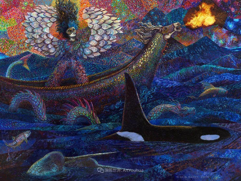 用颜料触摸这个世界!美国画家Iris Scott画选(中)——动植物篇插图17