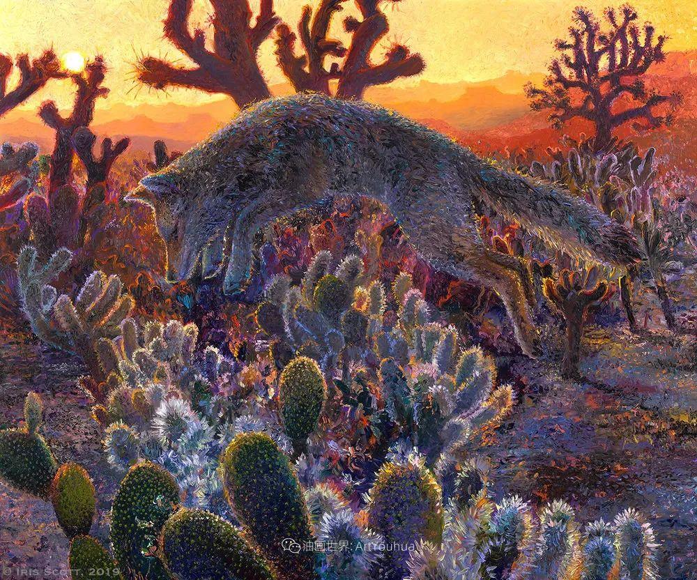 用颜料触摸这个世界!美国画家Iris Scott画选(中)——动植物篇插图19