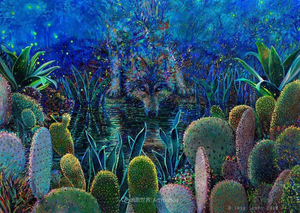 用颜料触摸这个世界!美国画家Iris Scott画选(中)——动植物篇插图21