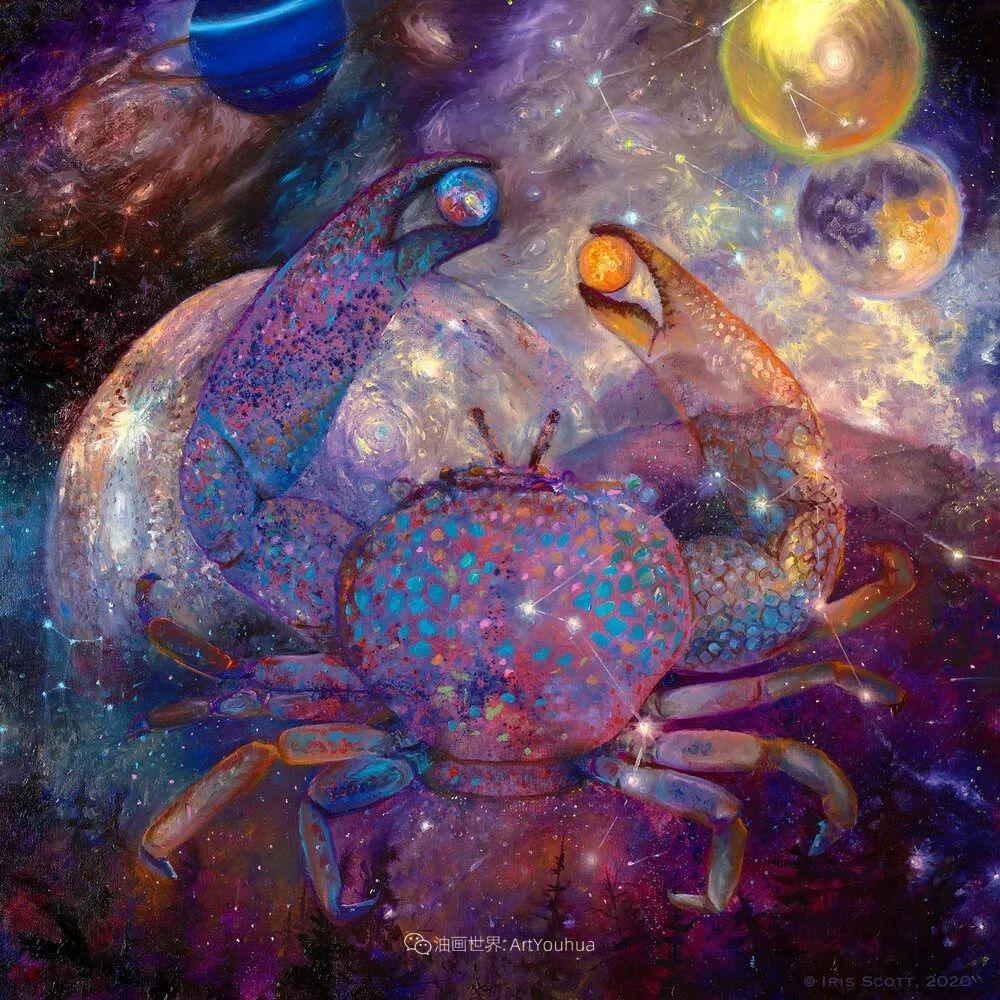 用颜料触摸这个世界!美国画家Iris Scott画选(中)——动植物篇插图23