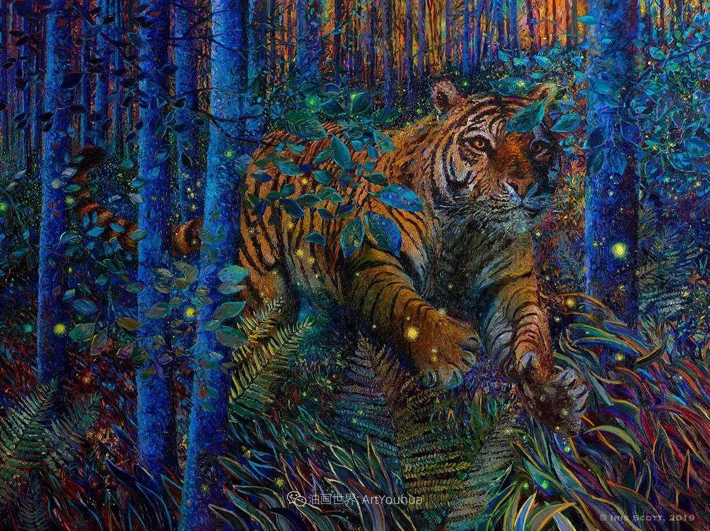 用颜料触摸这个世界!美国画家Iris Scott画选(中)——动植物篇插图25