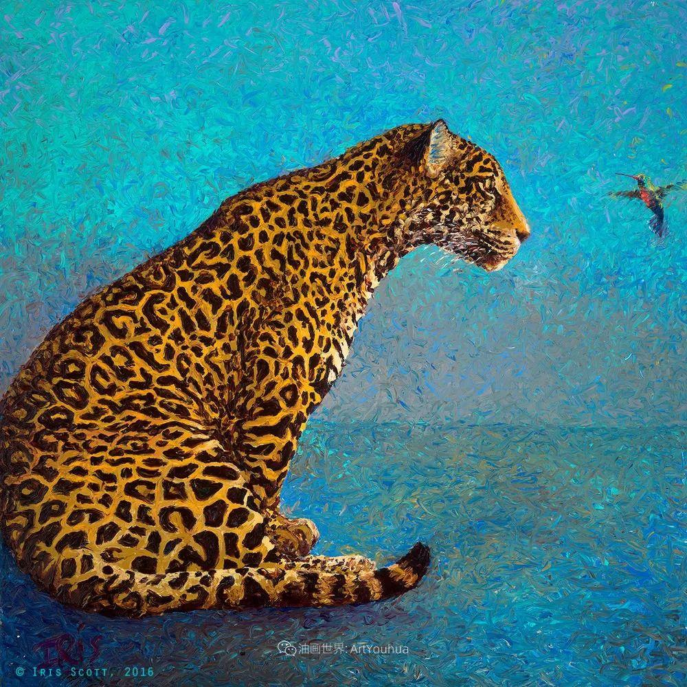 用颜料触摸这个世界!美国画家Iris Scott画选(中)——动植物篇插图27