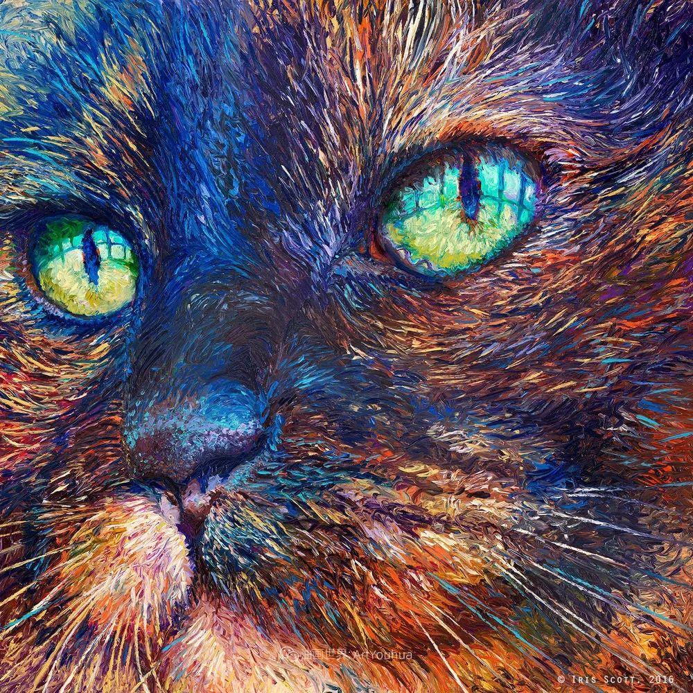 用颜料触摸这个世界!美国画家Iris Scott画选(中)——动植物篇插图29