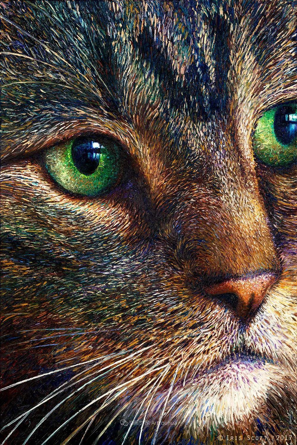 用颜料触摸这个世界!美国画家Iris Scott画选(中)——动植物篇插图31