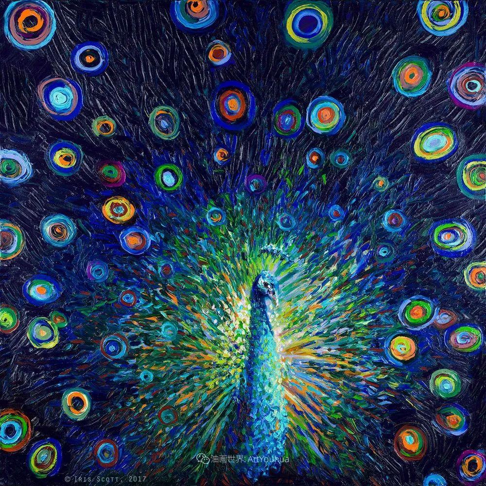 用颜料触摸这个世界!美国画家Iris Scott画选(中)——动植物篇插图33