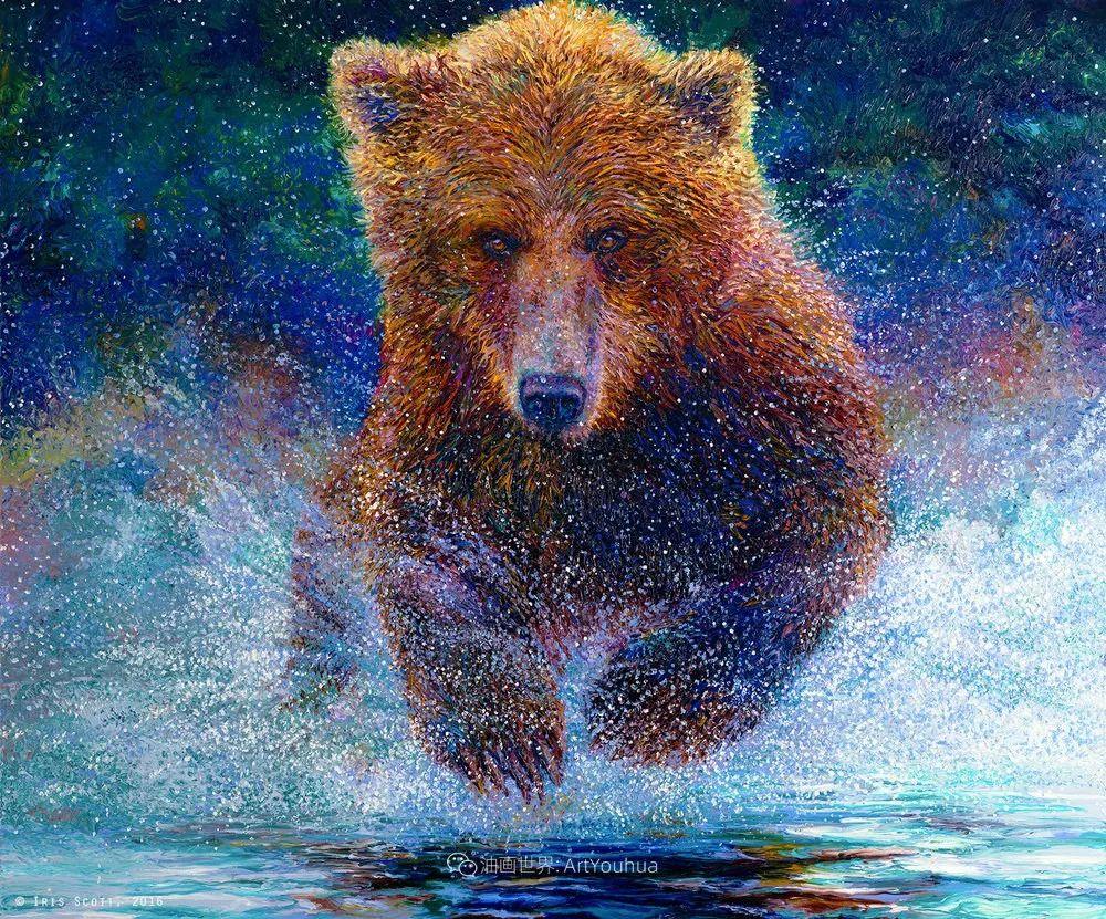 用颜料触摸这个世界!美国画家Iris Scott画选(中)——动植物篇插图37