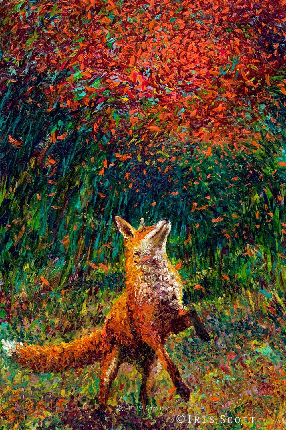 用颜料触摸这个世界!美国画家Iris Scott画选(中)——动植物篇插图41