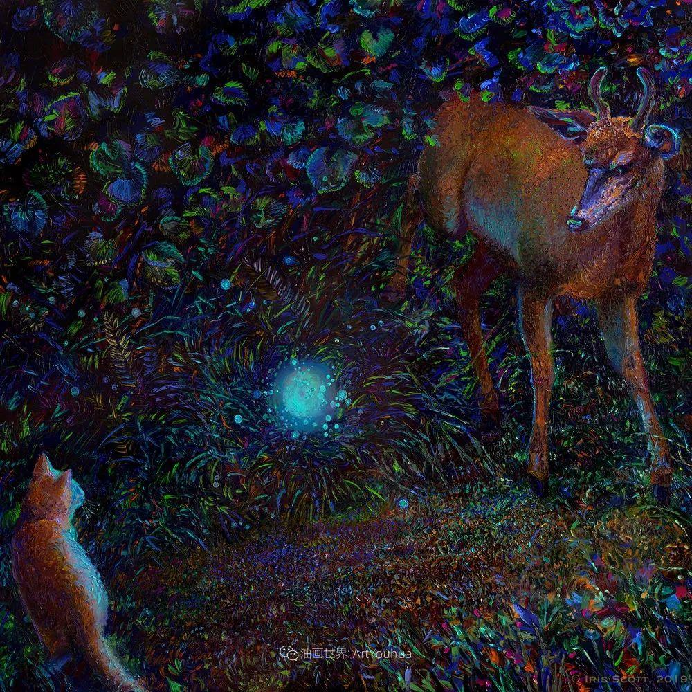 用颜料触摸这个世界!美国画家Iris Scott画选(中)——动植物篇插图49