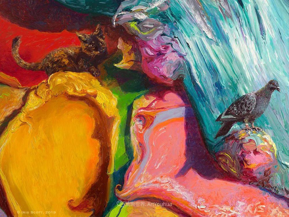 用颜料触摸这个世界!美国画家Iris Scott画选(中)——动植物篇插图53