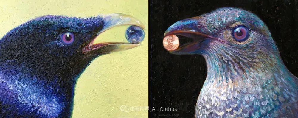 用颜料触摸这个世界!美国画家Iris Scott画选(中)——动植物篇插图55