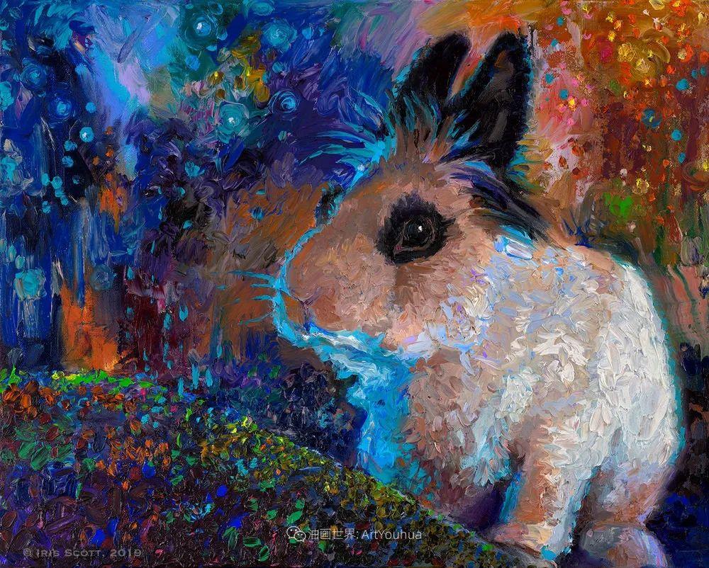 用颜料触摸这个世界!美国画家Iris Scott画选(中)——动植物篇插图57