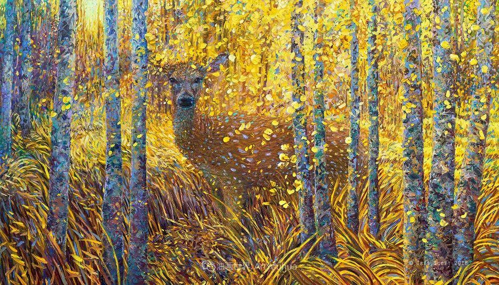 用颜料触摸这个世界!美国画家Iris Scott画选(中)——动植物篇插图59