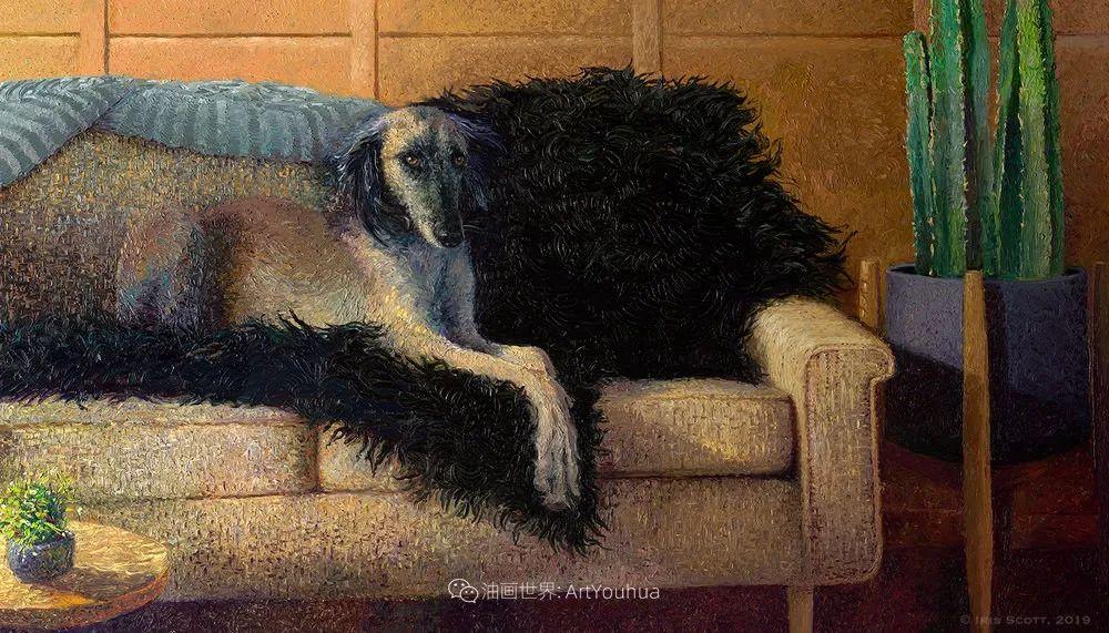 用颜料触摸这个世界!美国画家Iris Scott画选(中)——动植物篇插图61