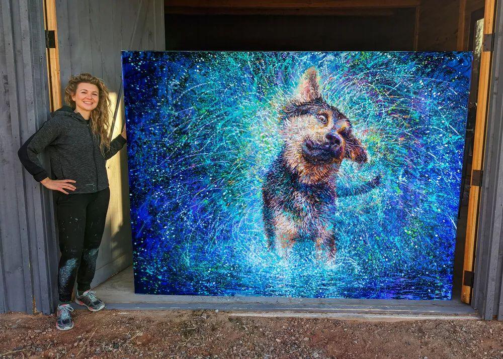 用颜料触摸这个世界!美国画家Iris Scott画选(中)——动植物篇插图63