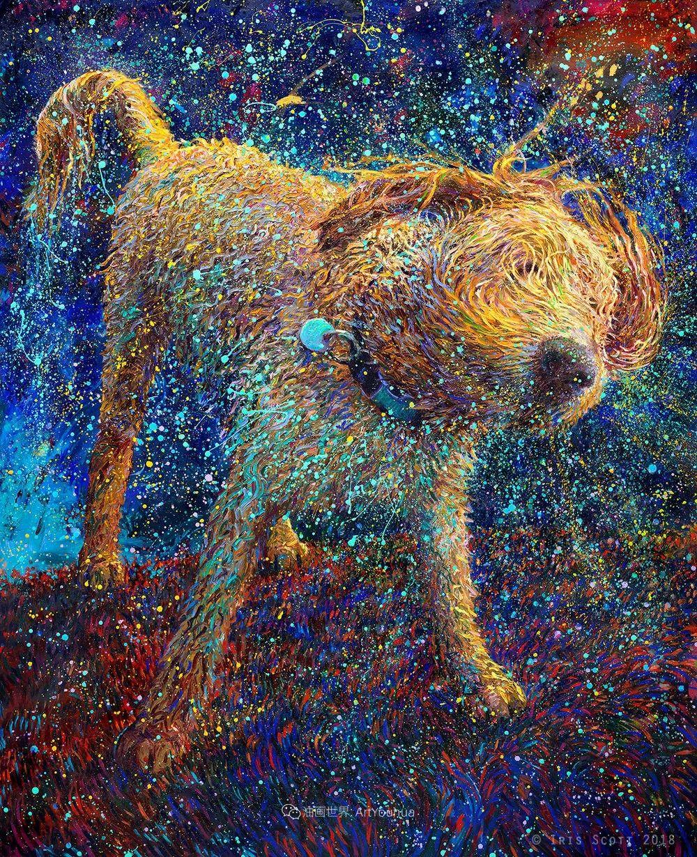 用颜料触摸这个世界!美国画家Iris Scott画选(中)——动植物篇插图65