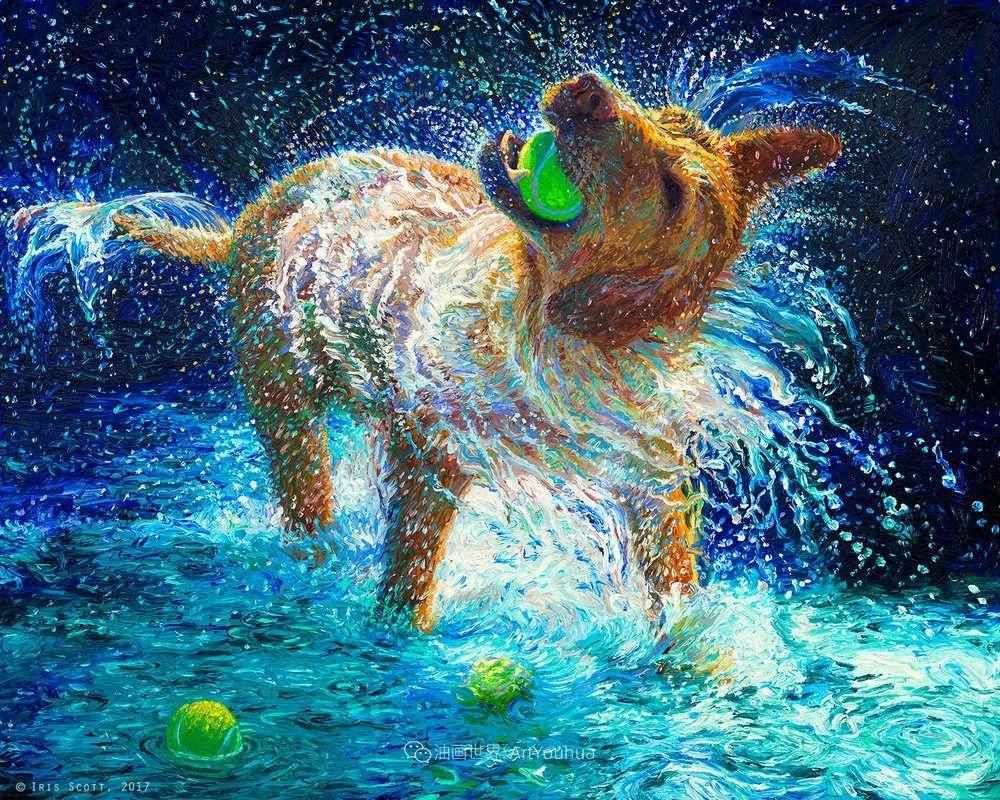 用颜料触摸这个世界!美国画家Iris Scott画选(中)——动植物篇插图67