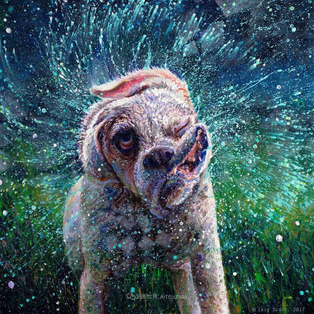 用颜料触摸这个世界!美国画家Iris Scott画选(中)——动植物篇插图69