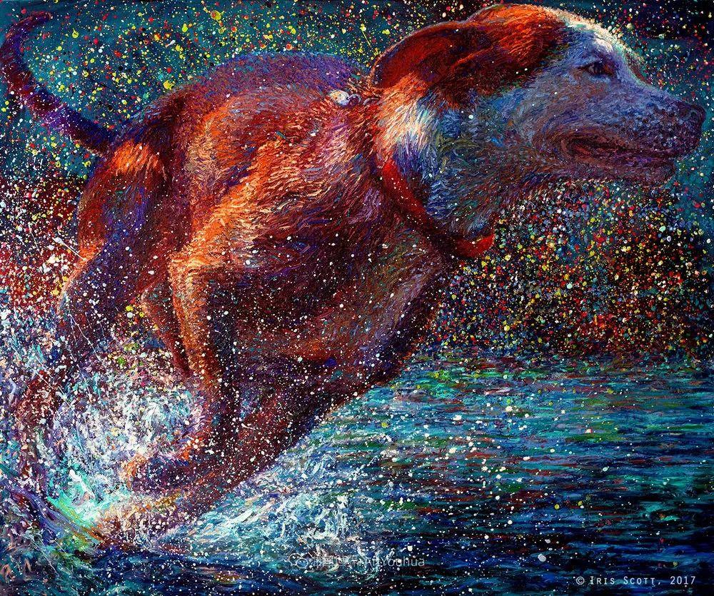 用颜料触摸这个世界!美国画家Iris Scott画选(中)——动植物篇插图71