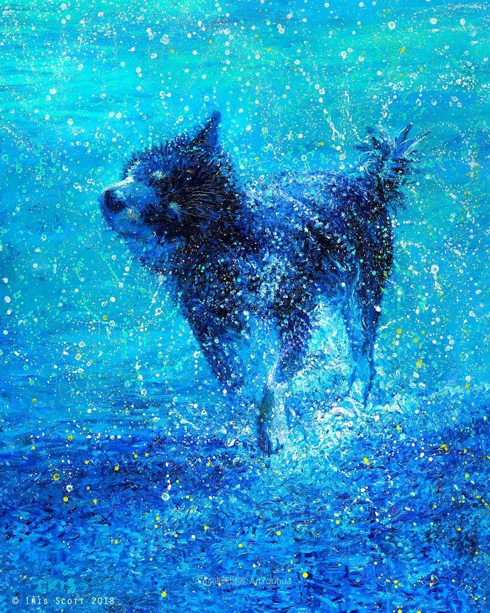 用颜料触摸这个世界!美国画家Iris Scott画选(中)——动植物篇插图73