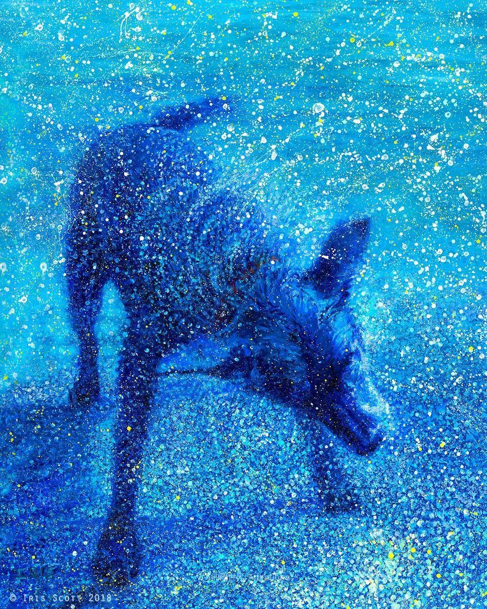 用颜料触摸这个世界!美国画家Iris Scott画选(中)——动植物篇插图75