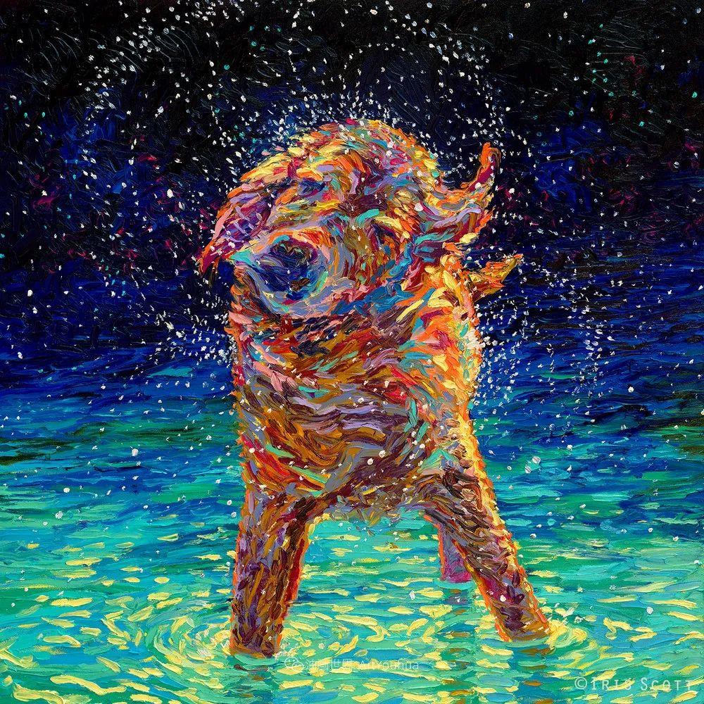 用颜料触摸这个世界!美国画家Iris Scott画选(中)——动植物篇插图77