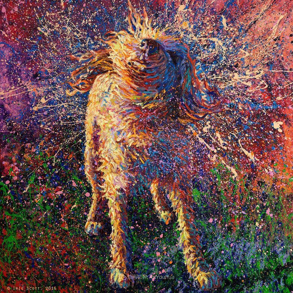 用颜料触摸这个世界!美国画家Iris Scott画选(中)——动植物篇插图81