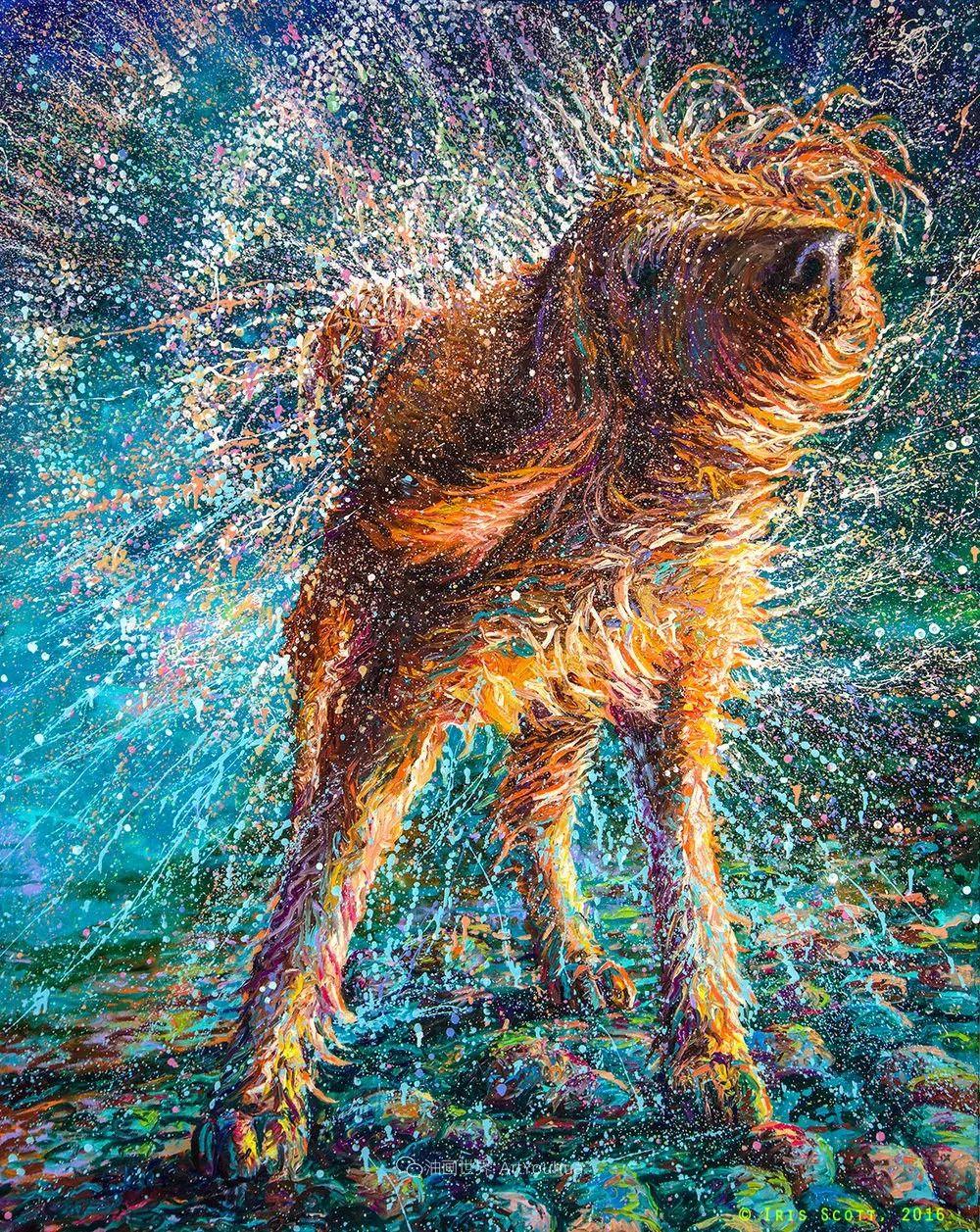 用颜料触摸这个世界!美国画家Iris Scott画选(中)——动植物篇插图83