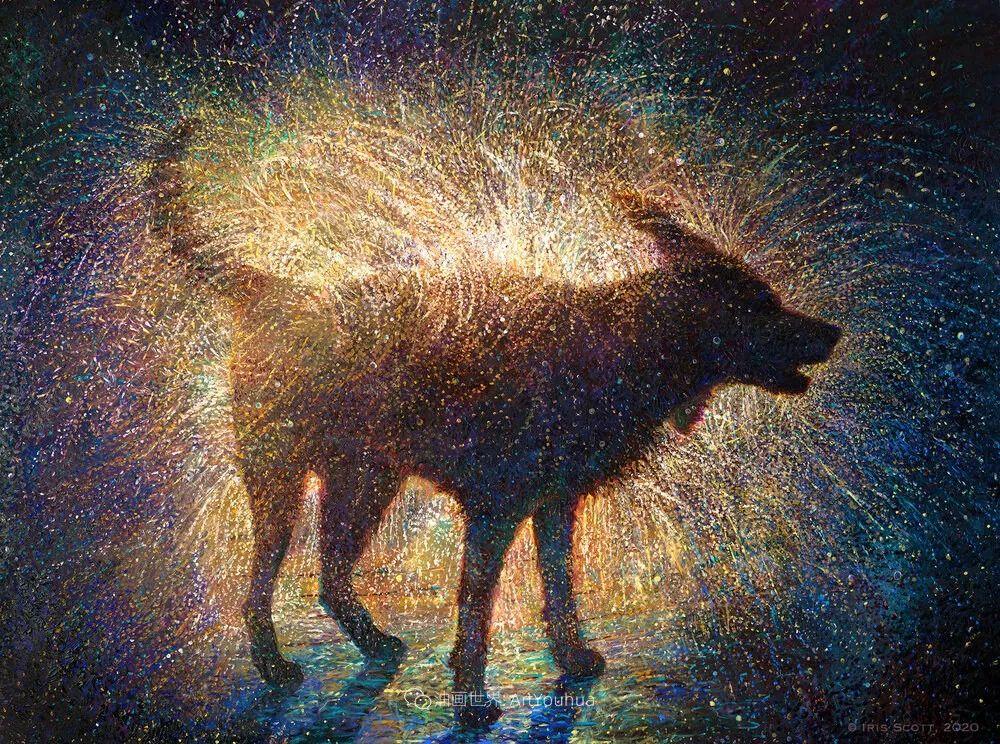 用颜料触摸这个世界!美国画家Iris Scott画选(中)——动植物篇插图85