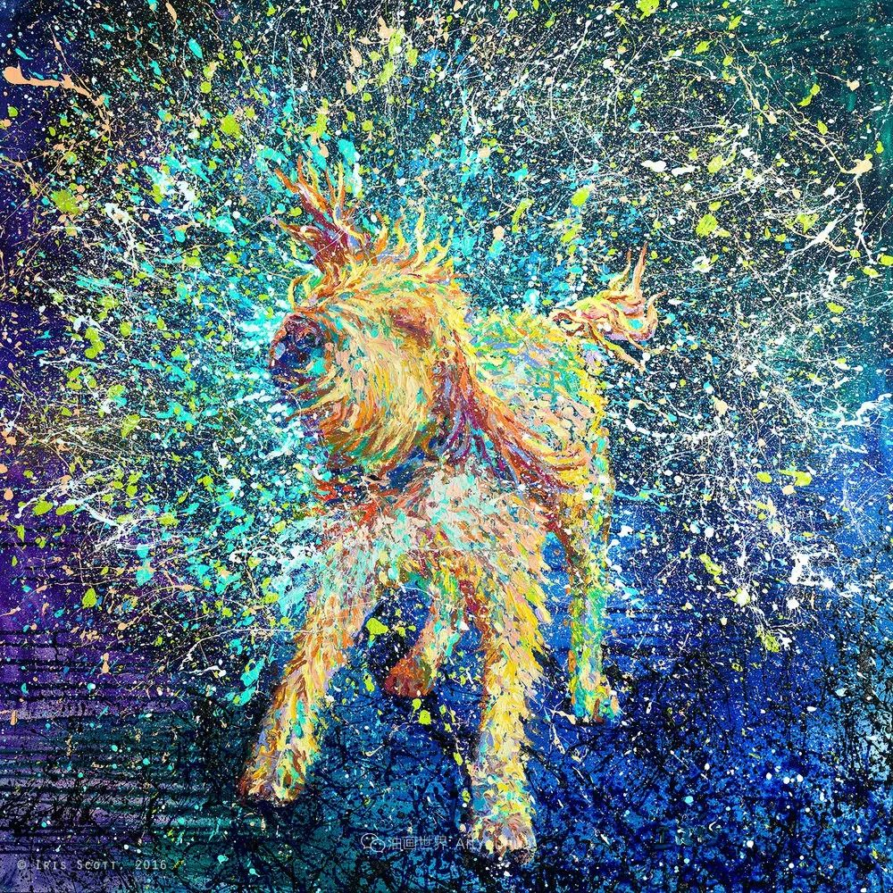 用颜料触摸这个世界!美国画家Iris Scott画选(中)——动植物篇插图87