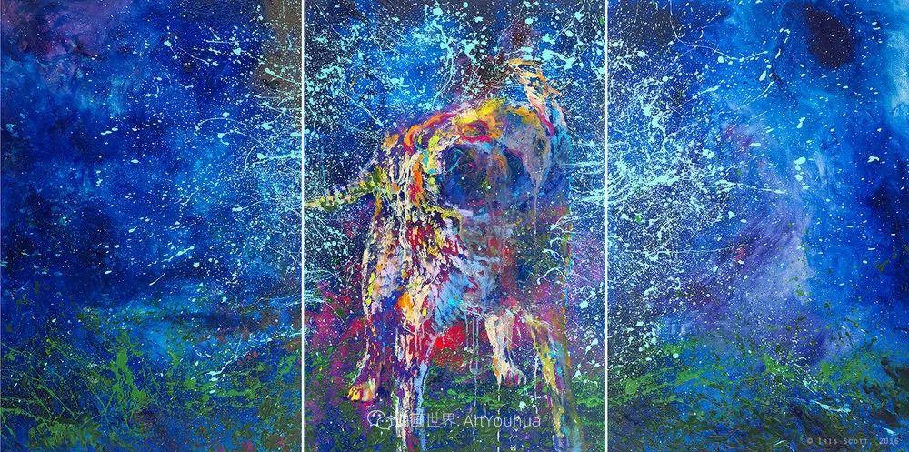 用颜料触摸这个世界!美国画家Iris Scott画选(中)——动植物篇插图89