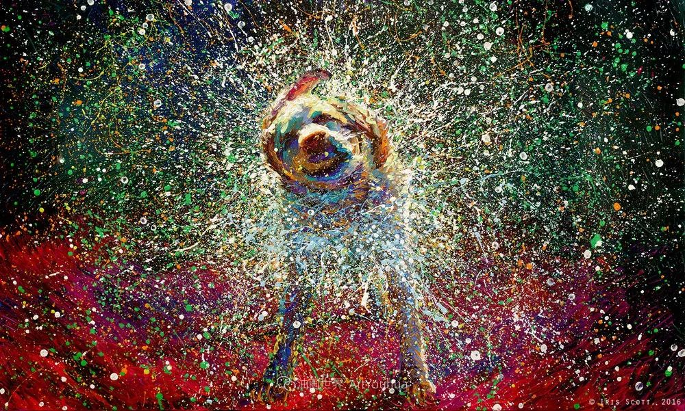 用颜料触摸这个世界!美国画家Iris Scott画选(中)——动植物篇插图93